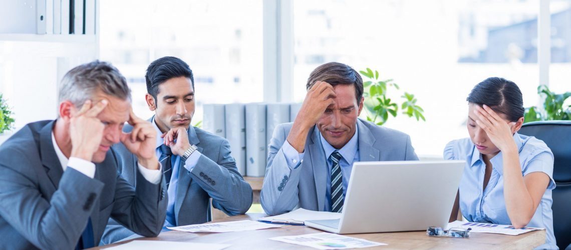 Thoughtful business people during meeting in office,Image: 253461636, License: Royalty-free, Restrictions: , Model Release: yes, Credit line: Profimedia