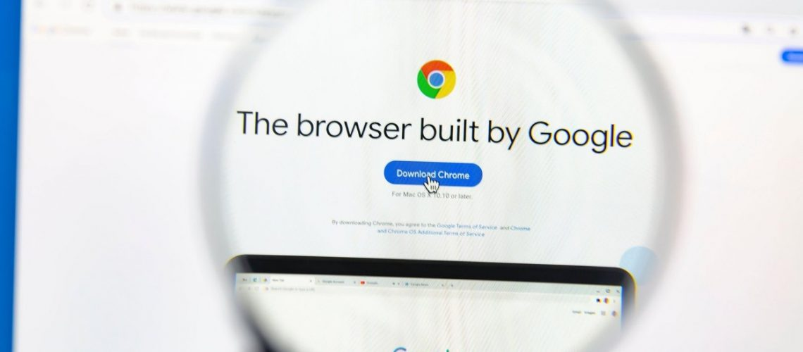 Google Chrome homepage on a computer screen. Google Chrome is a cross-platform web browser developed by Google.,Image: 569675474, License: Royalty-free, Restrictions: Contributor country restriction: Worldwide, Worldwide. Contributor usage restriction: Advertising and promotion, Consumer goods. Contributor media restriction: {471CE359-E68E-4723-AF5E-561BBD1C0861}, {471CE359-E68E-4723-AF5E-561BBD1C0861}., Model Release: no
